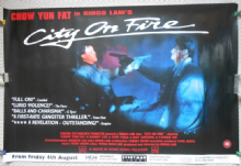 City on Fire, Original UK Quad Poster, Chow Yun Fat, Danny Lee, '87